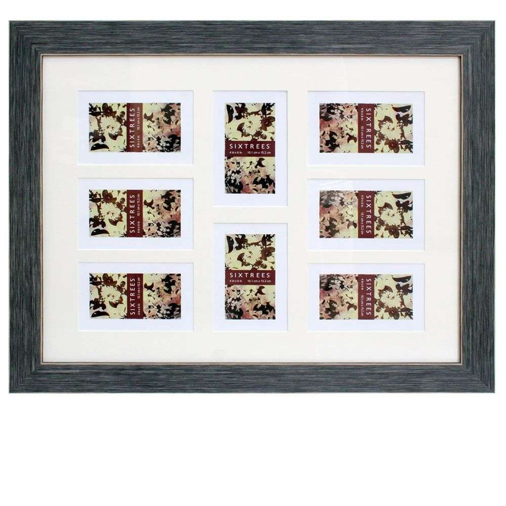 sixtrees tiger multi aperture 6x4 photo frame for 8 photos. Black Bedroom Furniture Sets. Home Design Ideas