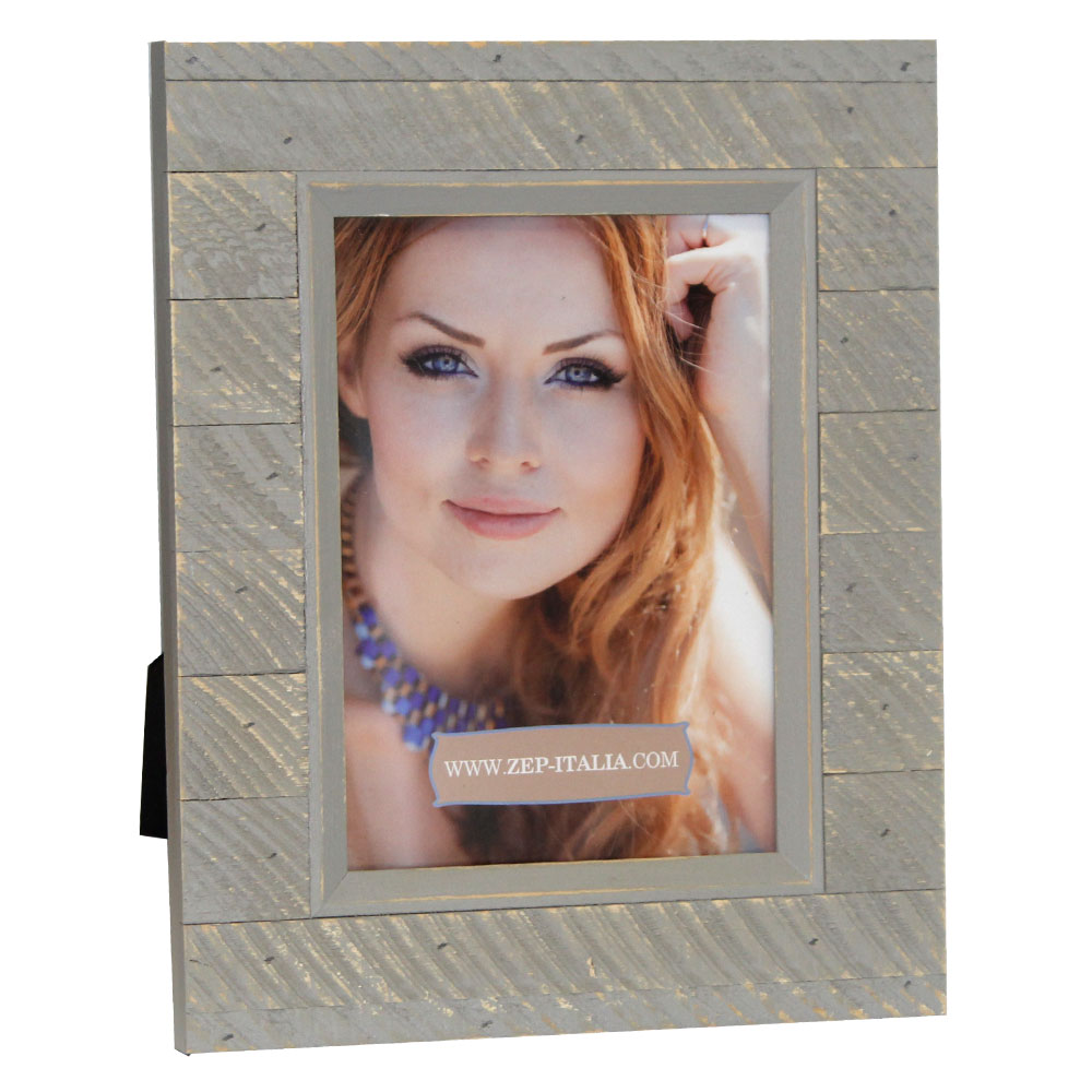 Varazze Slatted Blue Wooden 7x5 inch Photo Frame Overall Size 10x8 inches
