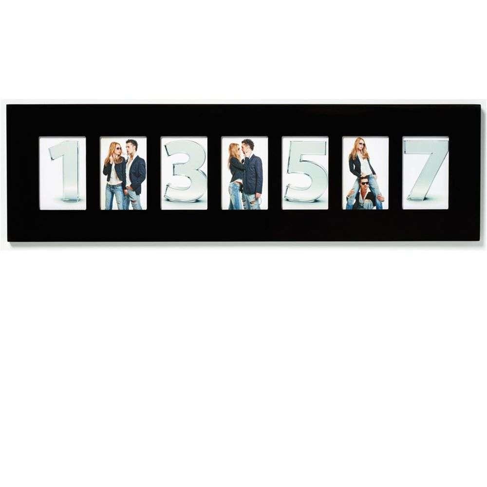 walther new line black multi aperture photo frame for 7. Black Bedroom Furniture Sets. Home Design Ideas