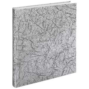 Caracas | Traditional Photo Album | 25 White Pages | 12.5 x 11.25 Inch | Silver