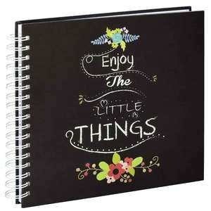 Enjoy The Little Things | Traditional Photo Album | 50 White Pages | 9x9inch