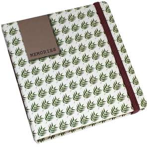 Fern Slip In Instax Wide Photo Album Overall Size 4.5x5 Inches