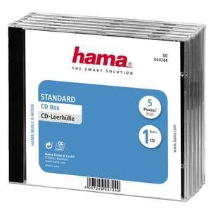 1x5 Hama CD Box Jewel Case