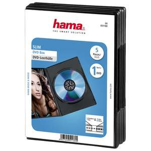 1x5 Hama Slim DVD Jewel Case Black