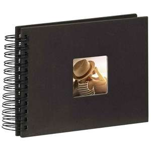 Black Spiral Photo Album Landscape 25 Black Pages 8.75x6.75 Inches Overall 50 Sides