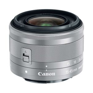 Canon EF-M 15-45mm f3.5-6.3 IS STM Silver Lens