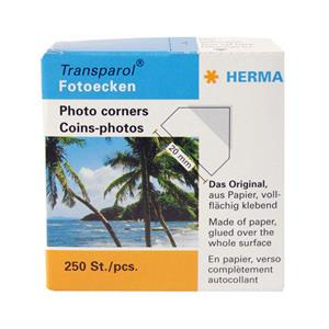 Herma Photo Corners for Traditional Photo Albums - 250pcs