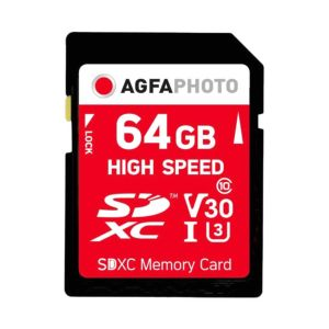 AgfaPhoto 64GB SDXC UHS-1 Class 10 Memory Card