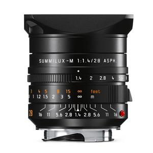 Leica Summilux 28mm F1.4 ASPH | Leica M Lens | Black | 11668