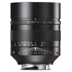 Leica Noctilux 75mm F1.25 ASPH | Leica M Lens | Black | 11676