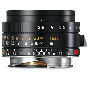 Leica Elmarit 28mm F2.8 ASPH   Leica M Lens   Black   11677
