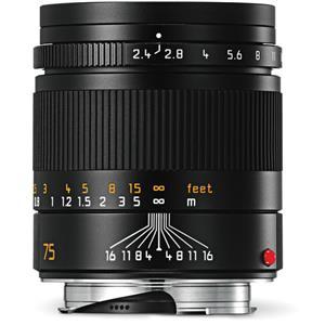 Leica Summarit 75mm F2.4 | Leica M Lens | Black | 11682