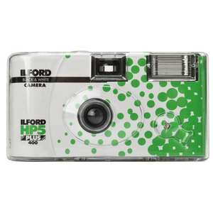 Ilford Black and White Disposable Camera for 27 Photos with Flash - Ilford HP5 Film
