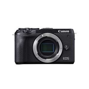 Canon EOS M6 | 15-45mm Lens | 24.2 MP | 22.3 x 14.9mm CMOS Sensor | Full HD Video | Wi-Fi | Black