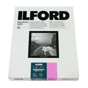 Ilford Multigrade IV RC Deluxe Glossy Paper / 20.3x25.4cm / 8x10inch / 100 Sheets