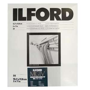 Ilford Multigrade IV RC Deluxe Pearl Paper / 12.7x17.8cm / 5x7 inch / 25 Sheets