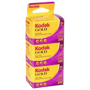 Kodak Gold 200 ISO 36 Exp 35mm Colour Print Film - Triple Pack