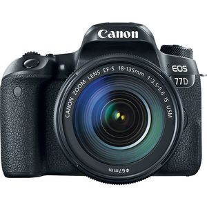 Canon EOS 77D | 18-135mm IS USM Lens | 24.2 MP | APS-C CMOS Sensor | Full HD Video | Wi-Fi