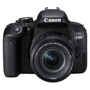 Canon 800D | 18-55mm EF-S Lens 24.2 MP | 22.3 x 14.9mm CMOS Sensor | Full HD Video | Wi-Fi