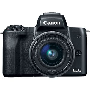 Canon EOS M50 | 15-45mm Lens | 24.1 MP | 22.3 x 14.9mm CMOS Sensor | 4K Video | Wi-Fi & NFC