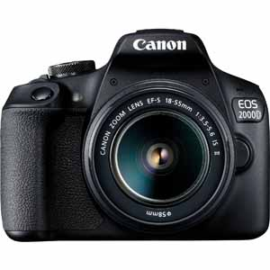 Canon EOS 2000D | 18-55mm IS II Lens | 24.1 MP | APS-C CMOS Sensor | Full HD Video | Wi-Fi & NFC