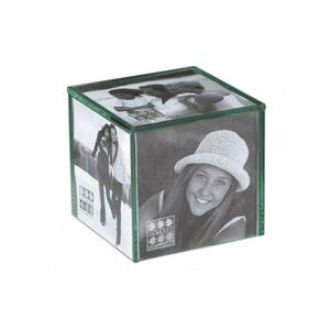 Sixtrees Glass Photo Cube For 5 4x4 Photos