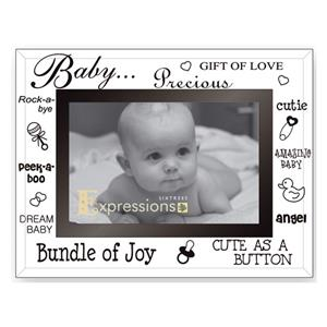 Sixtrees Baby Glass and Mirror 6x4 Photo Frame