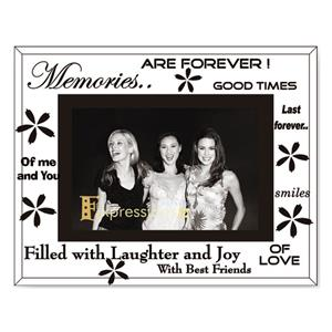 Sixtrees Memories Glass and Mirror 6x4 Photo Frame