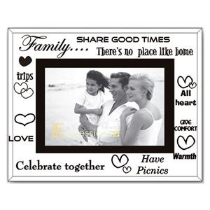 Sixtrees Family Glass and Mirror 6x4 Photo Frame