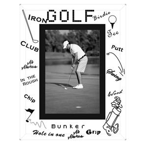 Sixtrees Golf Glass and Mirror 6x4 Photo Frame