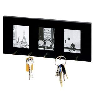 Sixtrees Tribega Black Photo Key Holder - 3 Photos