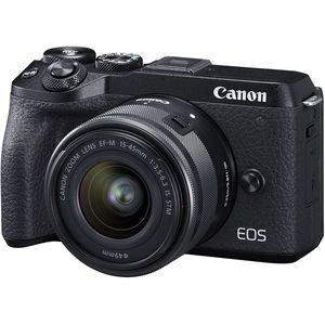 Canon EOS M6 Mark II Camera with 15-45mm STM Lens and EVF-DC2 Viewfinder