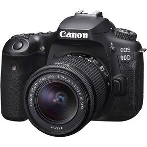 Canon EOS 90D | 18-55mm EF-S Lens | 32.5 MP | APS-C CMOS Sensor | 4K Video | Wi-Fi