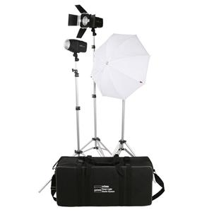 Dorr Smart Light Flash LCD Kit Inc 2x 300Ws and 1x 200Ws Flash Heads 3x Light Stands