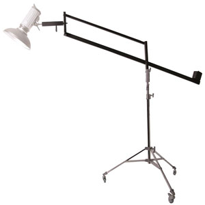 Dorr Mobile Light Stand with Boom, Weights and Vibration Damper 3.1 Meters Tall