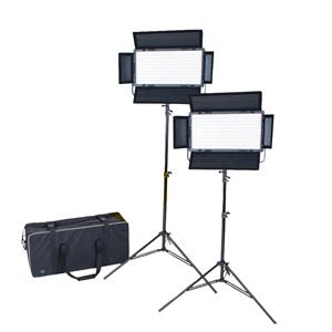 Dorr DLP-820 LED Continuous Lighting Kit | 2 Light Panels | 2 Stands | 1 Studio Case | 6300 Lux/1m