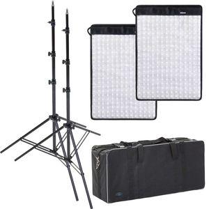 Dorr FX-3040 Flexible Light Panel Kit | 2 Light Panels | 2 Stands | 1 Bag | 3000K-5600K Bi-Colour