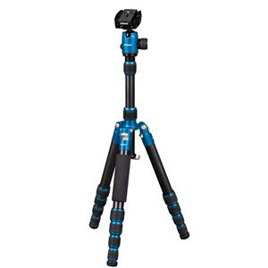 Dorr HQ1315 5 Section Black/Blue Aluminium Tripod with Ball Head