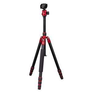 Dorr HQ1315 5 Section Black/Red Carbon Fibre Tripod with Ball Head