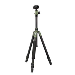 Dorr HQ1315 5 Section Black/Green Carbon Fibre Tripod with Ball Head