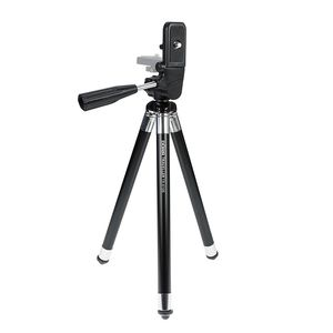 Dorr Traveller Compact Tripod | 3 Way Head | 8 Sections | 105 (cm) Max Height | Rubber Feet