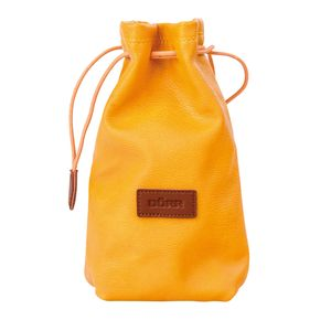 Dorr Skin Camera Case L Yellow Drawstring Pouch