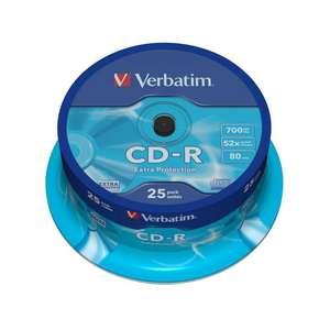 1x25 Verbatim CD-R 80min 700MB 52x Speed Extra Protection CB