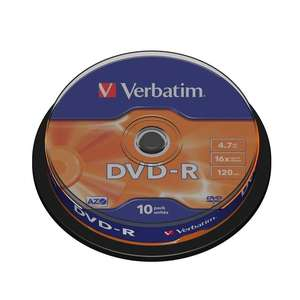 1x10 Verbatim DVD-R 4,7GB 120mins 16x Speed