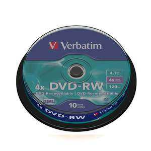 1x10 Verbatim DVD-RW 4,7GB 120mins 4x Speed Rewritable
