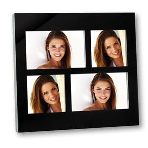 Cassiopea Black Glass Multi Aperture Photo Frame