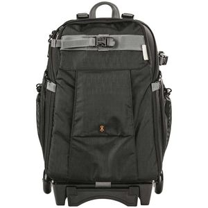 Dorr Dark Black Travel Small Trolley Backpack with Wheels