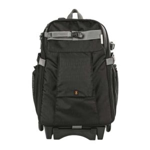 Dorr Dark Black Travel Medium Trolley Backpack with Wheels