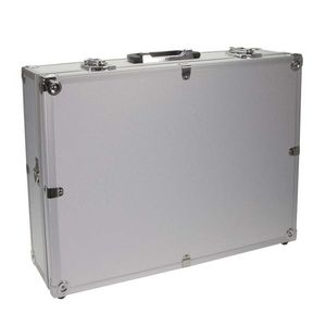 Dorr Silver Aluminium Case with Foam 44.5 x 32.5 x 13.5cm