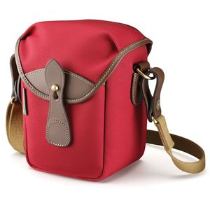 Billingham 72 Burgundy Canvas and Chocolate Leather Camera Bag